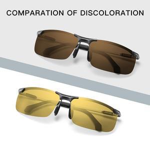 Image 4 - CAPONI Nachtsicht Sonnenbrille Polarisierte Photochrome Sonnenbrille Für Männer Oculos Gelb Driving Gläser gafas de sol BSYS3066