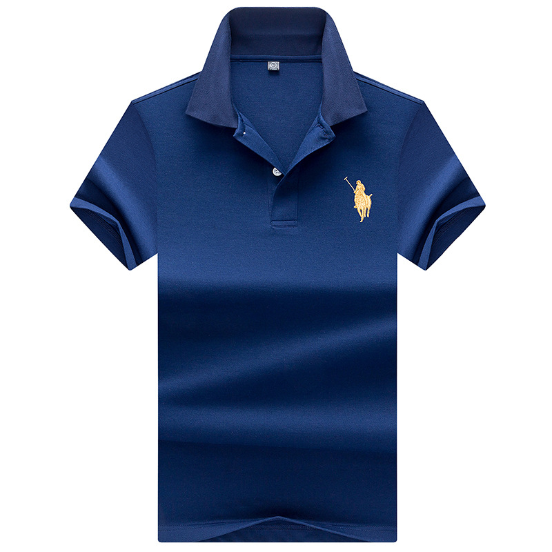 High Quality Tops&Tees Men's Polo shirts Business men brands Polo Shirts 3D embroidery Turn-down collar Free shipping