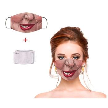 #35 1pc Adult Novelty Face Mask Fashion Sarah Hocus Pocus Funny Expression Print Washable Reusable Dusts Mask Mascarillas