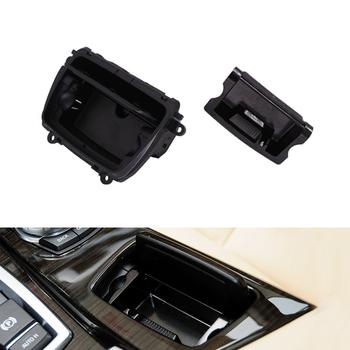 Popielniczki samochodowe centrum ABS konsola popielniczka skrzynka montażowa do Bmw serii 5 F10 F11 F18 2010-2017 51169206347 czarny tanie i dobre opinie Tefanball CN (pochodzenie) Wielofunkcyjne For BMW F10 F11 F18 5 Series