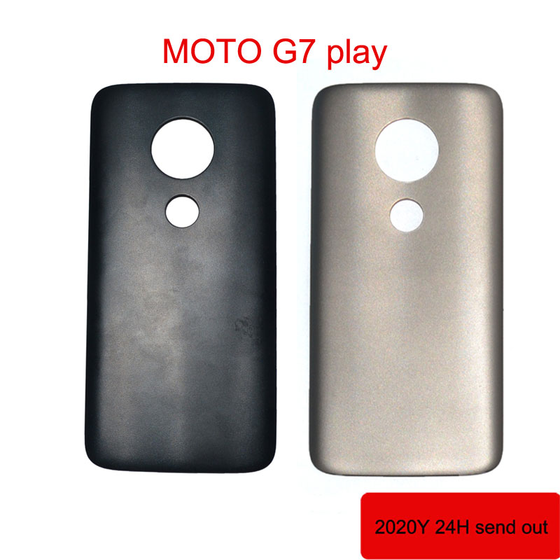 Original For Motorola Moto G7 play <font><b>XT1952</b></font>-2 Back Battery Cover Housing Replacement <font><b>parts</b></font> image