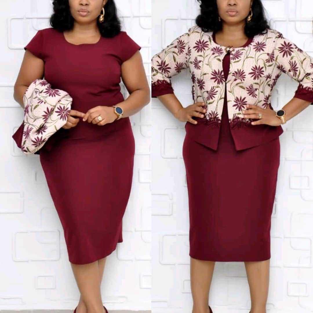 2019 New Arrival Autumn Elegent Fashion Style African Women Printing Plus Size Dress Suit XL-4XL