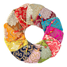 10.5*10.5cm Traditional Silk Traveling Pouches Embroidery Jewelry Packaging Gifts Bags Handmade