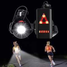 Led-Chest-Light Warning-Light Outdoor with Rechargeable-Battery for Camping Hiking Running-Adventure