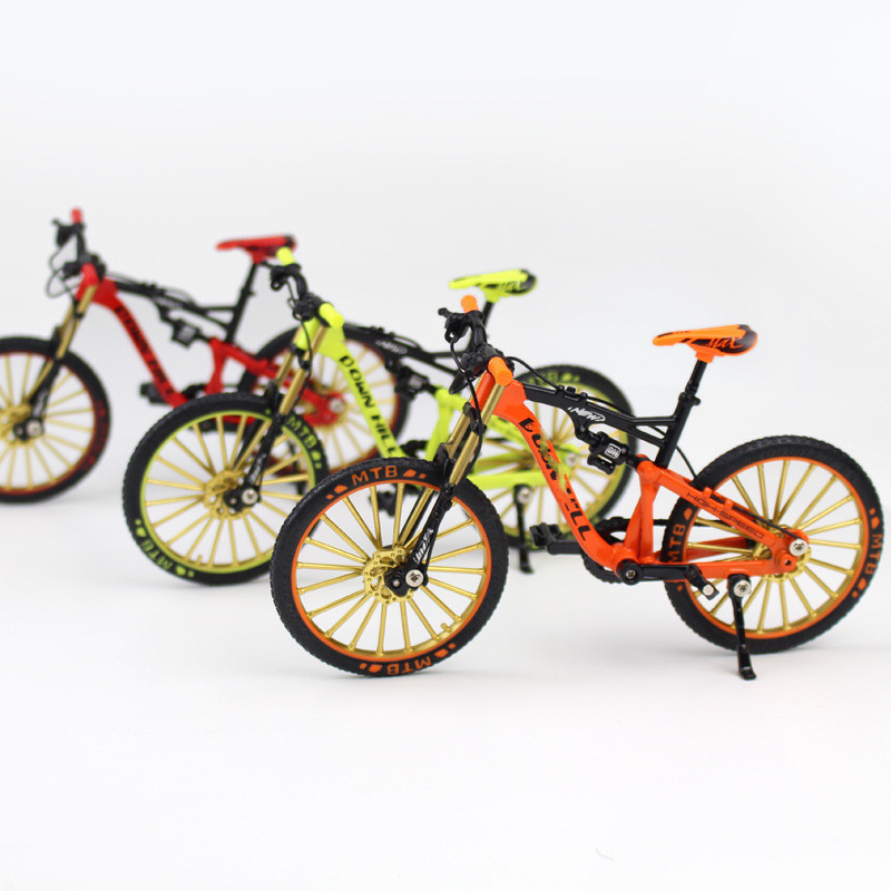 1 Pcs Delicate Crazy Magic Finger Bike Alloy Bicycle Model 1:10 Bicycle Bend Road Mini Racing Toys Adult Collection Gifts 17.5CM