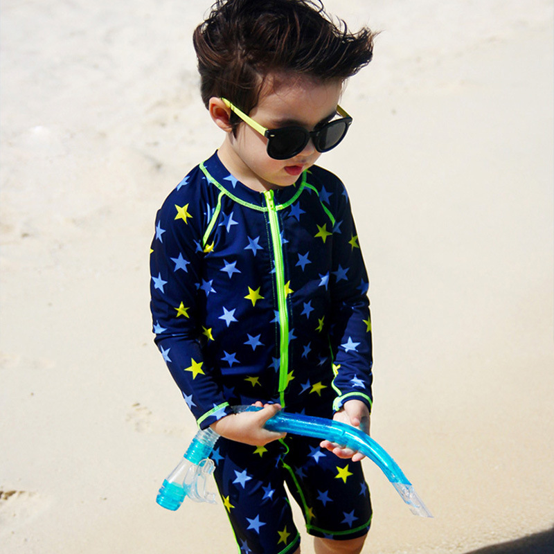 KID'S Swimwear BOY'S Modeling One-piece CHILDREN'S Swimwear Cartoon Baby Infants Beach Sun-resistant Swimwear With Cap