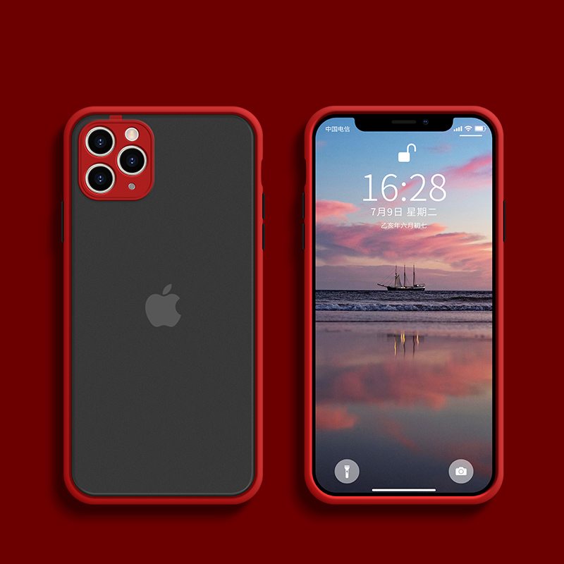 100WD Phone Case For Iphone 11 Pro Max Luxury Contrast Color Frame Protective Case For Iphone XS X Max XR 7 8 6 6S Plus SE 2020