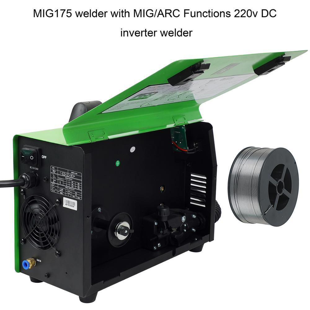 Neustart MIG Schweißer Gas Gaslose Mig150 Schweißer DC 220V 2 in 1 Flux Core Draht Inverter-schweißgerät MMA MIG MAG IGBT Schweißer