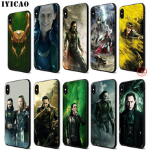 IYICAO Marvel Hero Loki Soft Black Silicone Case for iPhone 11 Pro Xr Xs Max X or 10 8 7 6 6S Plus 5 5S SE