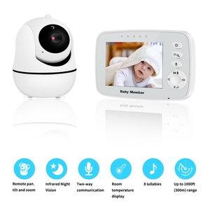 Беспроводной Детский монитор, дисплей с ЖК-экраном 3,2 дюйма, камера ночного видения для младенцев, датчик температуры, поддержка вращения вибрирующей головки
