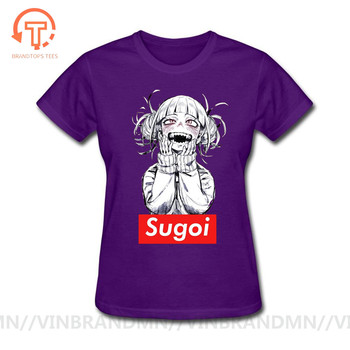 New japanese anime woman t-shirt Sugoi Himiko Boku No Hero Academia My Hero Artsy Awesome Modal Artwork Printed Tshirt Tees Tops image