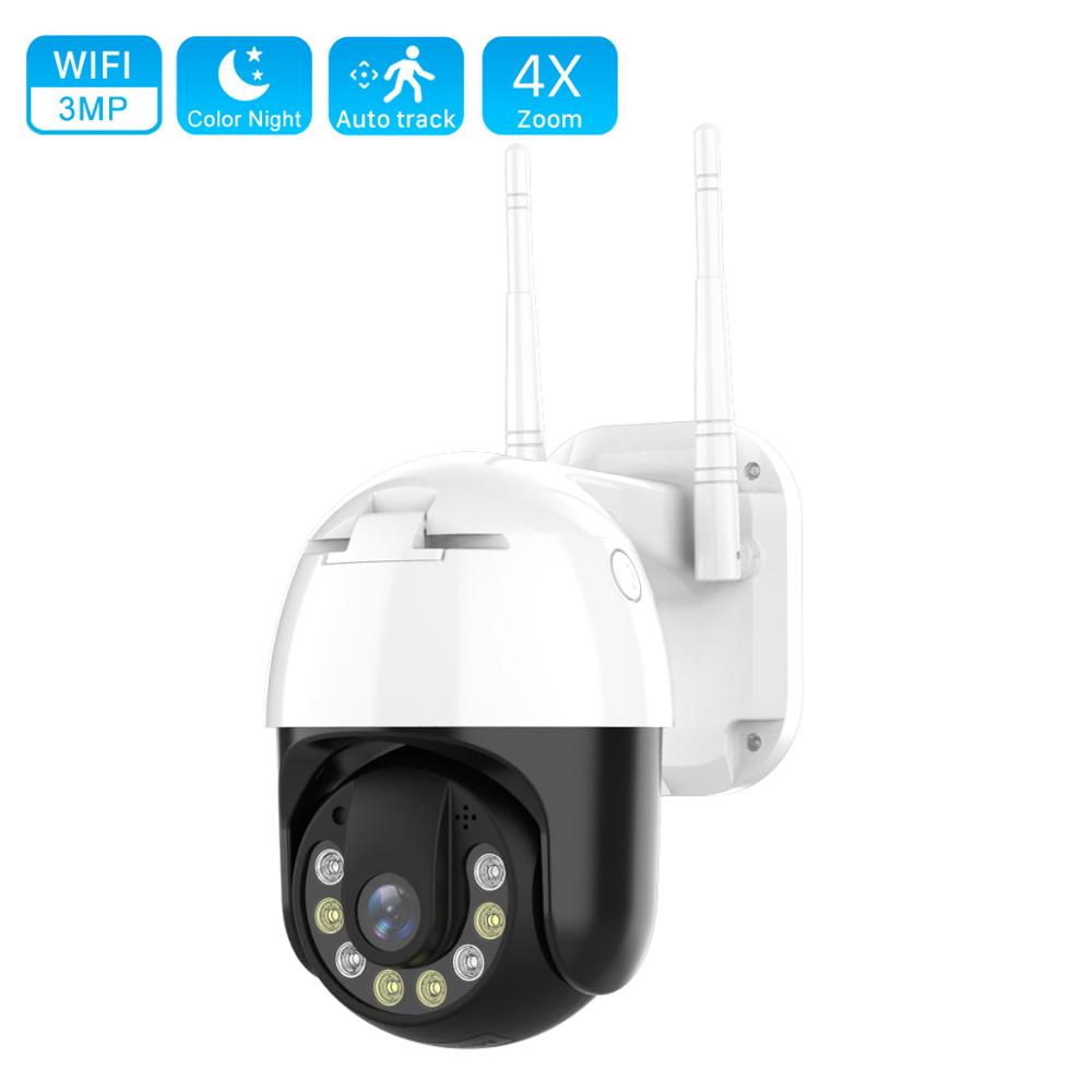 JOOAN PTZ IP Camera Wifi Outdoor Speed Dome Wireless Security Camera 4X Digital Zoom 3MP Network Auto Tracking CCTV Surveillance
