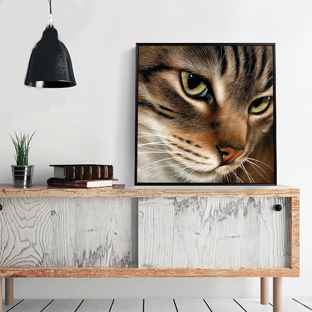 HUACAN 5d Diamond Painting Full Drill Square Cat Diamond Mosaic Accessories Animal Rhinestones Pictures Wall Art