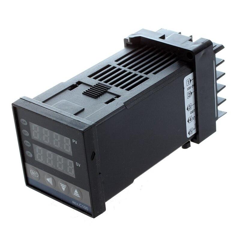 Aletler'ten Sıcaklık Cihazları'de Çift dijital F/C PID sıcaklık kontrol cihazı ile K termokupl title=