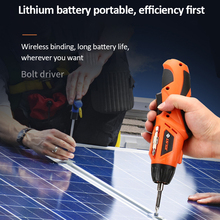 USB Rechargeable Cordless Electric Screwdriver Set Foldable Screwdriver Twistable Handle LED Torch Household DIY Electric Tool