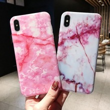 Artistic Marble Phone Case for Iphone XR XS MAX Cool Crack Gradient 8 7 6 6S Soft TPU Cover Capa