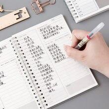 Diario semanal 2020 mensual planificador cuaderno espiral A5 tiempo Memo planificación organizador de agendas horario de la Oficina de la escuela estacionario