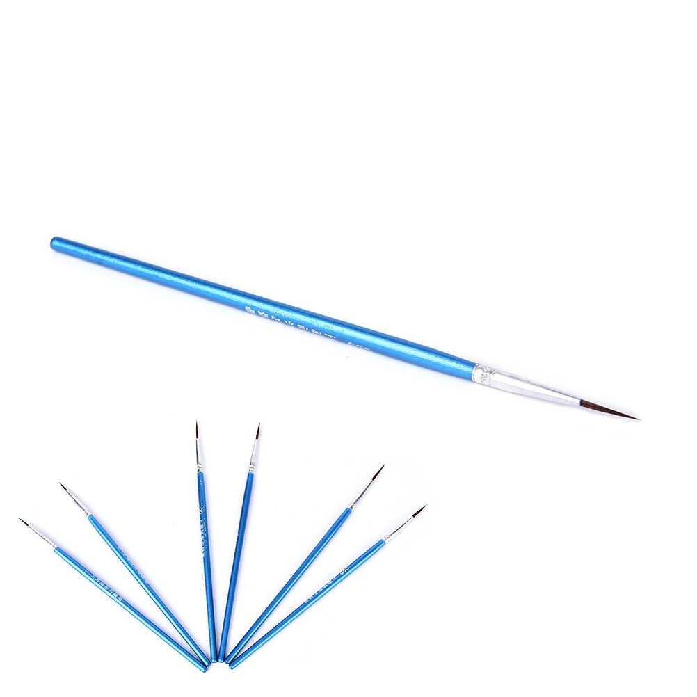 غرامة رسمت باليد رقيقة هوك خط القلم الأزرق باتون رسم الفن القلم الطلاء فرشاة لوازم الفن النايلون فرشاة تلوين القلم 10 قطعة/المجموعة