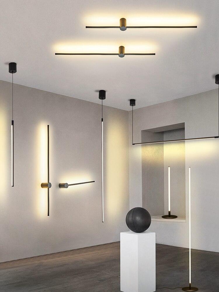 현대 led 펜 던 트 조명 블랙/슬라이 버 led 천장 중단 된 펜 던 트 조명 램프 홀 부엌 거실 침실