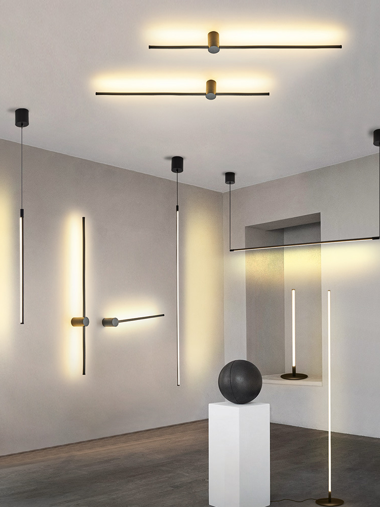 Modern LED Pendant Lights Black/Sliver LED Ceiling Suspended Pendant Light Lamp For Hall Kitchen Living Room Bedroom