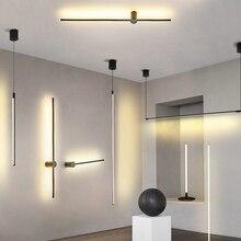 Moderno LED luces colgantes negro/plateado LED techo suspendido lámpara de luz colgante para salón cocina sala de estar dormitorio