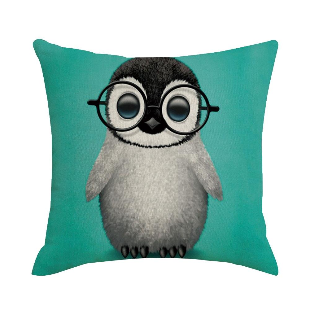 45x45cm Pillowcase Cute Pet Cub Printed Pillowcase Throw Pillowcase Kid Bedroom Cartoon Pillowcase Removable Bedding Set in Pillow Case from Home Garden