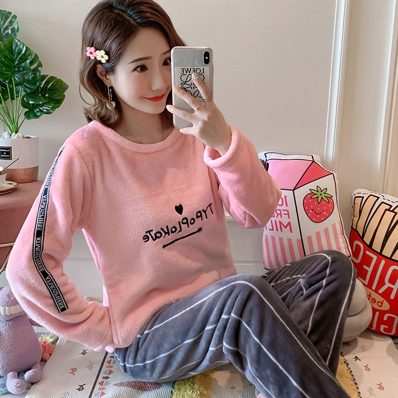 Betyline 2019 New Winter Pajamas For Women Sleepwear Warm Flannel Long Sleeves Pajamas Cute Animal Homewear Thick Homewear 128