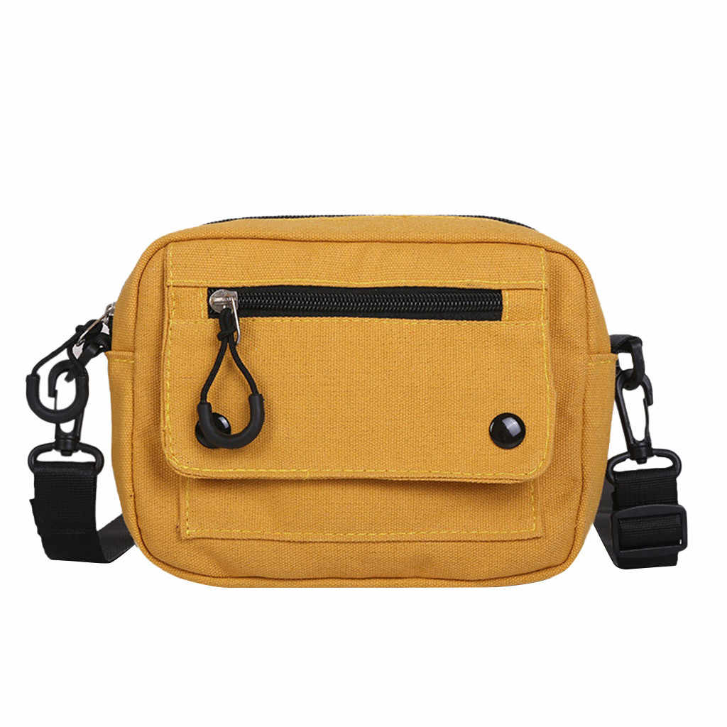 20 # Damesmode Canvas Eenvoudige Solid Leisure Schouder Messenger Tassen Mini travel Casual Wild Crossbody Tassen