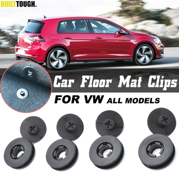 4x For VW Car Floor Mat Clips Retention Holders Grips Carpet Fixing Clamps Buckles Anti Skid Fastener Retainer Resistant image