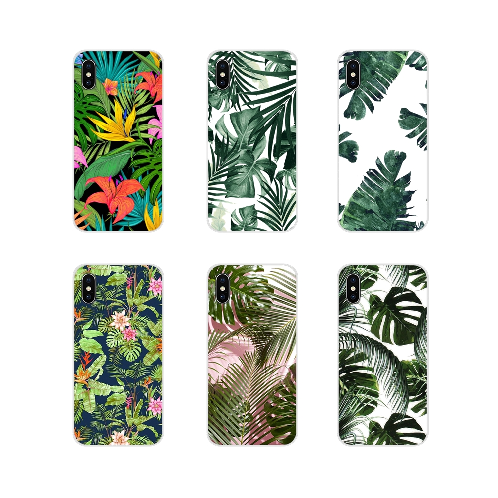TPU Shell <font><b>Cases</b></font> For <font><b>Samsung</b></font> A10 A30 A40 A50 A60 <font><b>A70</b></font> <font><b>Galaxy</b></font> S2 Note 2 3 Grand Core Prime Tropical Plant Banana Tree Leaves Flower image