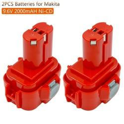 2pcs/lot 9.6V Ni CD Rechargeable Battery for Makita PA09 9120 9122 6207D 6261D192595-8 Power Tools Batteries