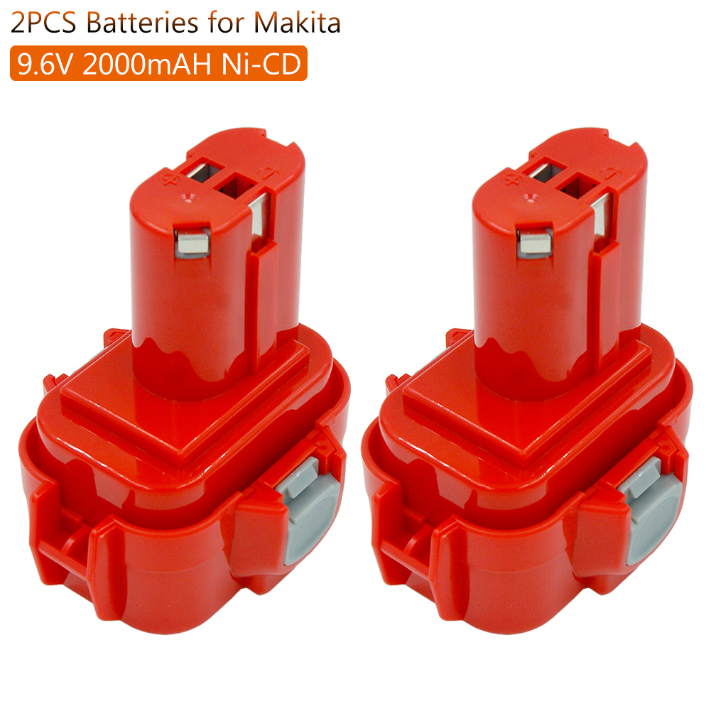2pcs/lot <font><b>9.6V</b></font> Ni CD Rechargeable <font><b>Battery</b></font> for <font><b>Makita</b></font> PA09 9100 9100A 9101 <font><b>9120</b></font> 9122 6207D 6261D192595-8 Power Tools <font><b>Batteries</b></font> image