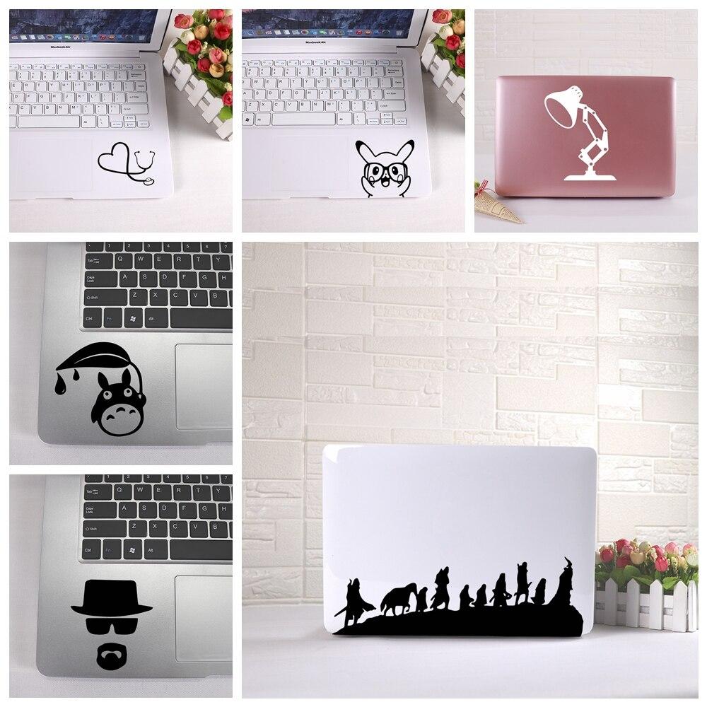 Cartoon Totoro Mickey Mouse Laptop Sticker Partial Stickers Vinyl Dragonball laptop Stickers  Art Decals for laptop skin decorat