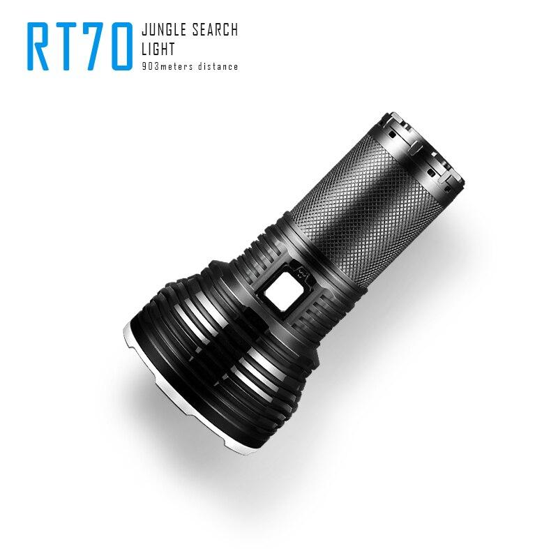 Image 3 - Imalent RT70 Cree XHP70 2. Generacji led ładowane na usb latarka latarka z 4X18650 3000mah bateria na kempingLatarki LED   -