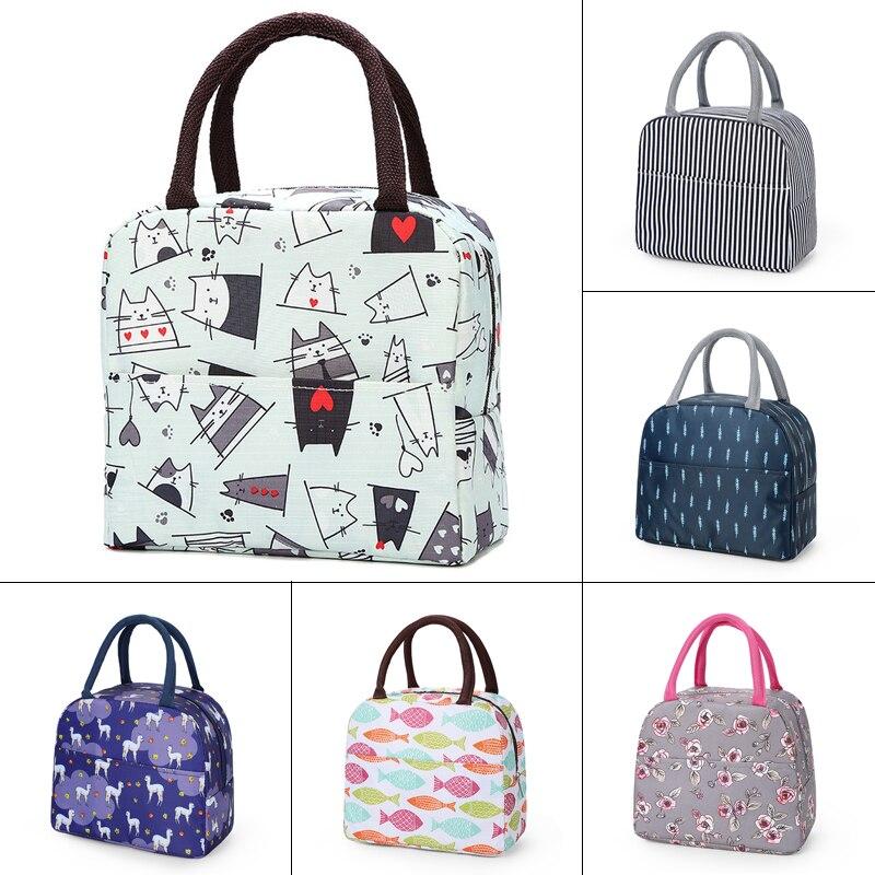 Hot Sale Waterproof Nylon Portable Zipper Thermal Oxford Lunch Bags Waterproof Convenient Leisure Bags Tote Food Bags 2020