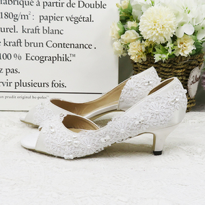 Image 2 - BaoYaFang 2020 Ankle strap Womens wedding shoes Peep Toe Open side fashion shoes woman High heels platform shoes Woman Pumps