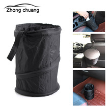Car canned bag waterproof car garbage cooling - side trash can bin folding b