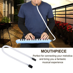 32/37 Keys Melodica Flexible Tube Organ Pianica Mouthpiece Portable Blowpipe Mouth Lightweight Portable Music Elements