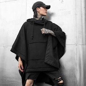 Image 2 - Pull à capuche punk, style gothique, vintage, streetwear, style punk, hip hop, style noir, collection sweatshirt à capuche long, automne hiver
