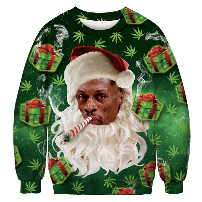 Funny Ugly Christmas Sweater Men Women Vacation Chest Hair Pullover Sweaters Cool Boy Sweters Fashion Style Christmas Sweater