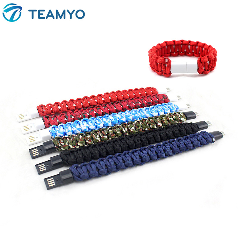 Outdoor Micro USB Braided Wristband Charger Data Cable for <font><b>Samsung</b></font> Xiaomi Huawei Android Phone Cable USB men bracelet women gift image