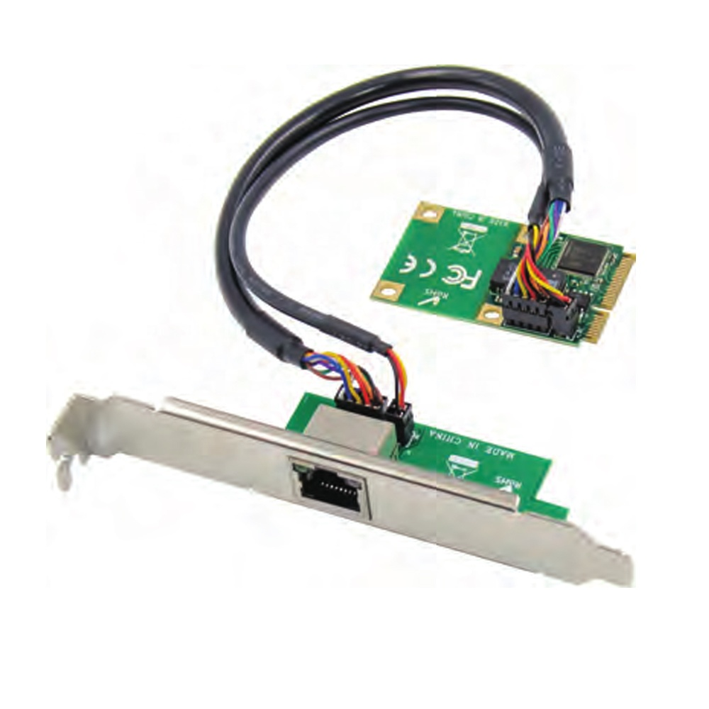 Mini PCIe To Single Port RJ45 Gigabit Ethernet NIC Network Card Mini PCIE Gigabit RJ45 LAN Server Network Card 1000M To Mpcie