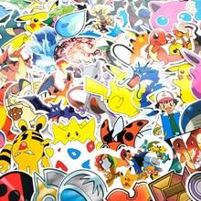 50 PCS Pokemon Pikachu95pcs Cartoon Stickers Waterproof Vinyl Decal for Laptop Helmet Bicycle Luggage Guitar Car Stickers