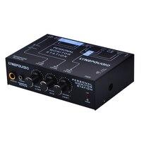 Precio https://ae01.alicdn.com/kf/H6003f7fce84e4830b277af0372ca1fb7F/B877 profesional 3 canales ESTÉREO mono micrófono mezclador de salida de señal equilibrada con ajuste de.jpg