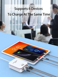 Image 3 - Quick Charge QC3.0 Universal 6USB Mobile Charger US UK EU Plug Wall Charger For Mobile Phone Quick Wall Charger For Iphone 12