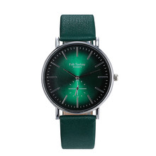 Top BrandWomen Watches Fashion Green Quartz Watch Simple Casual PU Leather Ladies Wrist watch Female girl Clock Relogio Saati Fi