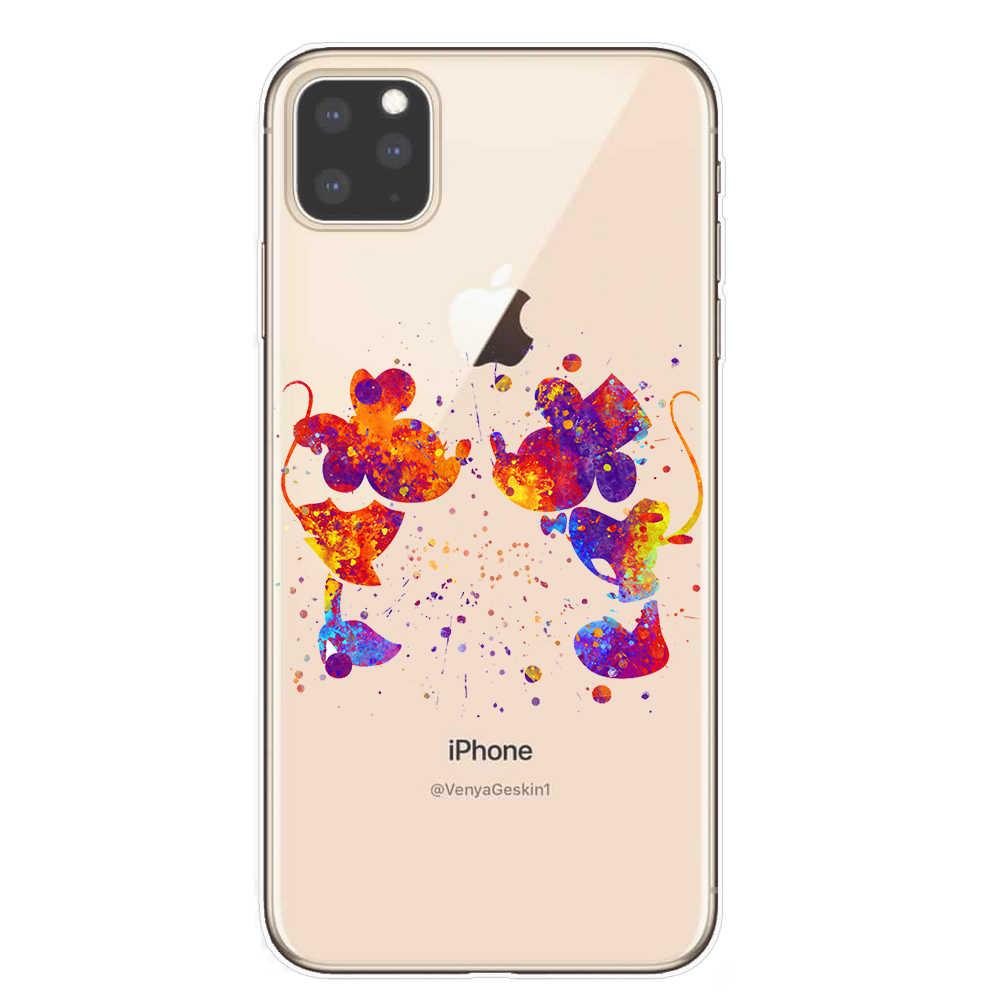 الكرتون ميني الأميرة غرزة حورية البحر حقيبة لهاتف أي فون 11 برو XS ماكس XR غطاء ل فون 8 7 6 6S زائد 5S SE كوكه غطاء قذيفة