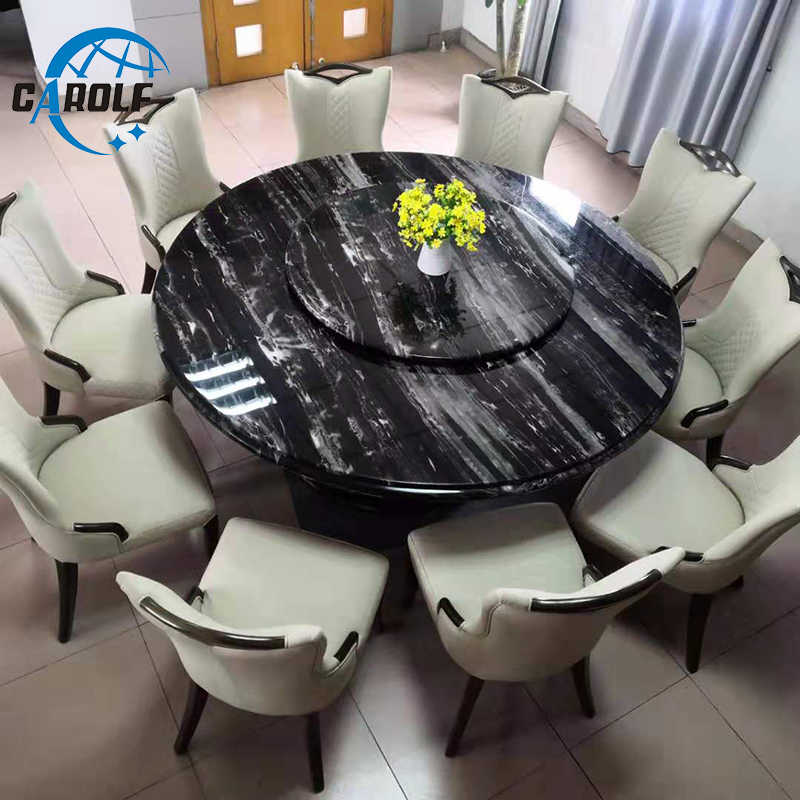 Best Price Modern 6 Chairs Marble Top Round Dining Table