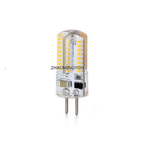GY6.35 LED Lamps 6W 12V 220V LED Corn Light Bulb Droplight Chandelier 3014SMD GY6.35 Led Bombillas White/Warm white Lamp(China)