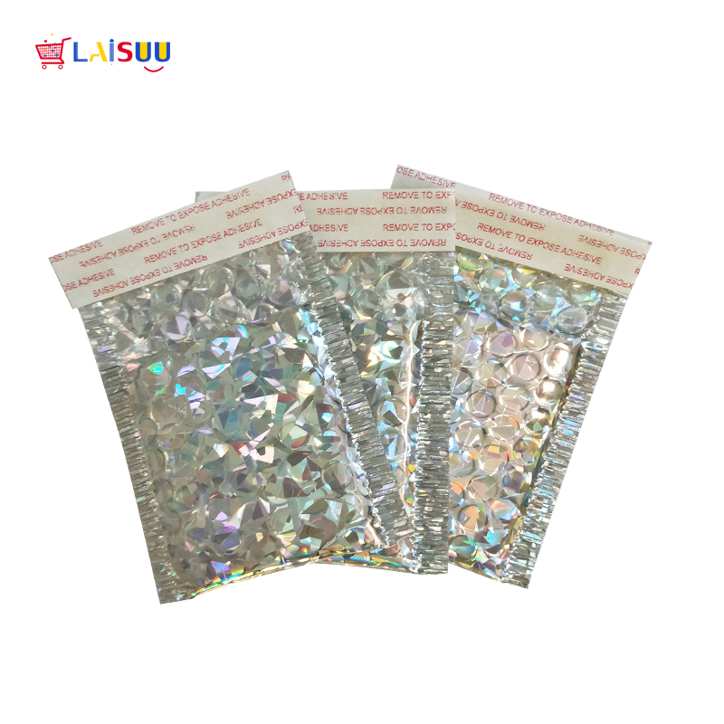 3 Size Holographic Aluminized Bubble Bag Thicken Bubble Envelope High-end Co-extruded Film Clothing Express Foam Envelope